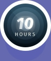 10 Hours Flight icon badge