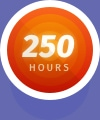 250 Hours Flight icon badge