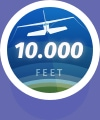 10,000 Feet Altitude Flight icon badge